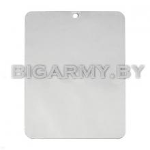 Зеркало кемпинговое сигнальное/для бритья (пластина нерж. сталь 7,5 х 10 см)