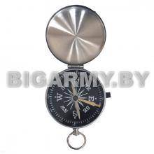 Компас d = 4,5 см с фиксатором стрелки и крышкой металлический