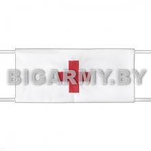 Повязка Красный крест на рукав белая санитарная