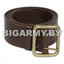 Ремень офицерский кожаный коричневый с латунной пряжкой