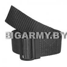 Ремень брючный тесьма (ширина 40 мм) с пластиковой пряжкой черный