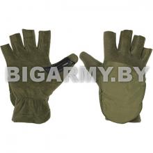 Рукавицы-перчатки с обрез. пальцами (флисовые одинарные) оливковые