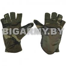 Рукавицы-перчатки с обрез. пальцами (флисовые одинарные) 4-х цветные зеленые