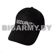 Бейсболка Security черная вышитая былой нитью