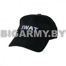 Бейсболка SWAT черная вышитая