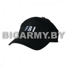 Бейсболка FBI черная вышитая