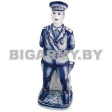 Штоф керамический Полицейский кобальт