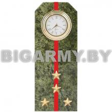 Часы сувенирные настольные Погон Капитан ВС