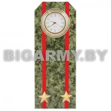 Часы сувенирные настольные  Погон Подполковник ВС