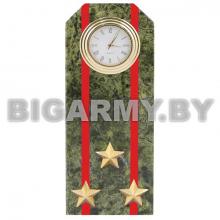 Часы сувенирные настольные Погон Полковник ВС