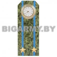 Часы сувенирные настольные Погон Подполковник ВДВ