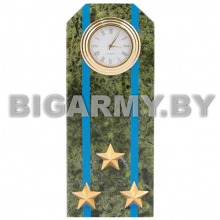 Часы сувенирные настольные Погон Полковник ВДВ