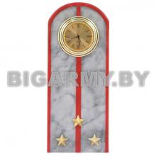 Часы сувенирные настольные Погон Старший лейтенант МВД