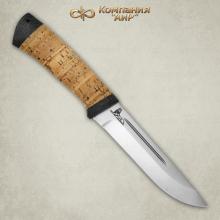 "Нож Бекас (береста), гравировка ""Волчица"""
