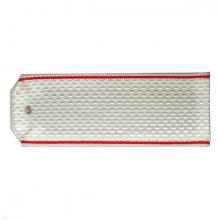 Погоны белые красный кант на пластике