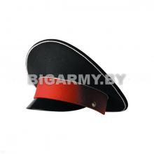 Фуражка с высокой тульей СВУ черная с белым кантом и красным околышем