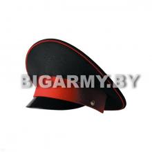 Фуражка с высокой тульей КК черная с красным кантом