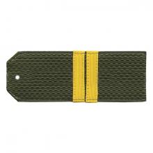 Погоны оливк. с нашитым желт.шелковым галуном (мл. сержант) на пластике