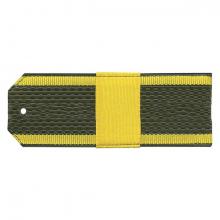 Погоны оливк. желтый кант курсантские с нашитым желт.шелковым галуном ст. сержант на пластике