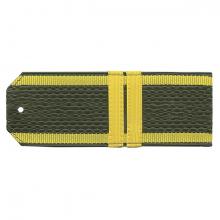 Погоны оливк. желтый кант (курсантские) с нашитым желт.шелковым галуном (мл. сержант) на пластике