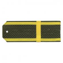 Погоны оливк. желтый кант курсантские с нашитым желт.шелковым галуном ефрейтор на пластике
