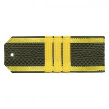 Погоны оливк. желтый кант курсантские с нашитым желт.шелковым галуном сержант на пластике