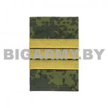 """Ф/пог. """"русская цифра"""" с нашит. текстильным галуном желтым сержант"""