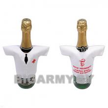 Рубашечка на бутылку сувенирная вышитая Медик Доктор рекомендует...