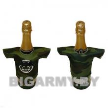 Рубашечка на бутылку сувенирная вышитая Летучая мышь (кмф)