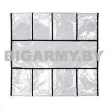 Укладка полотно с кармашками для хранения полностью прозрачная