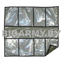 Укладка полотно с кармашками для хранения кмф зеленая карманы прозрачные