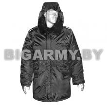 "Куртка зим. Аляска (мод. S) черная (ткань ""оксфорд"")"