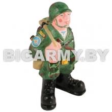 Фигурка гипсовая ВДВшник в каске и со снаряжением